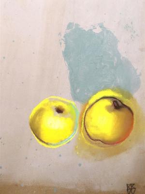 RBB Duo de pommes jaunes 30X40