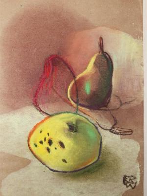 RBB Pomme jaune et poires trio 24x30
