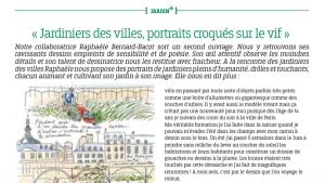 Article sur le livre Jardiniers des villes dans Versailles+