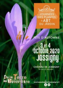 Poster Days of Plants and Garden Art in October in Jossigny