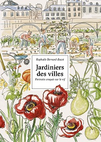 RBB : book cover City gardeners, portraits sketched on the spot